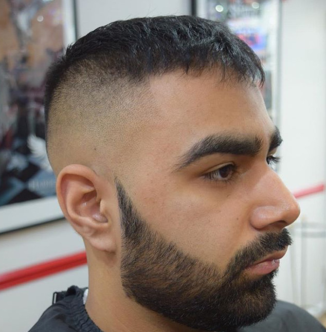 Beard finished into a point beard style North Bristol barbers