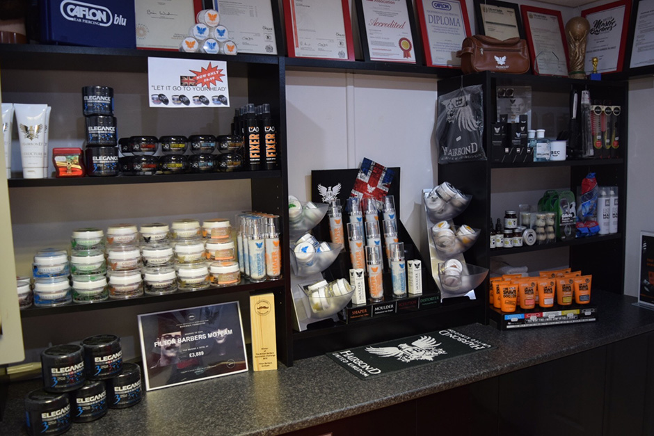 Hair Products at The Filton Barbers, North Bristol
