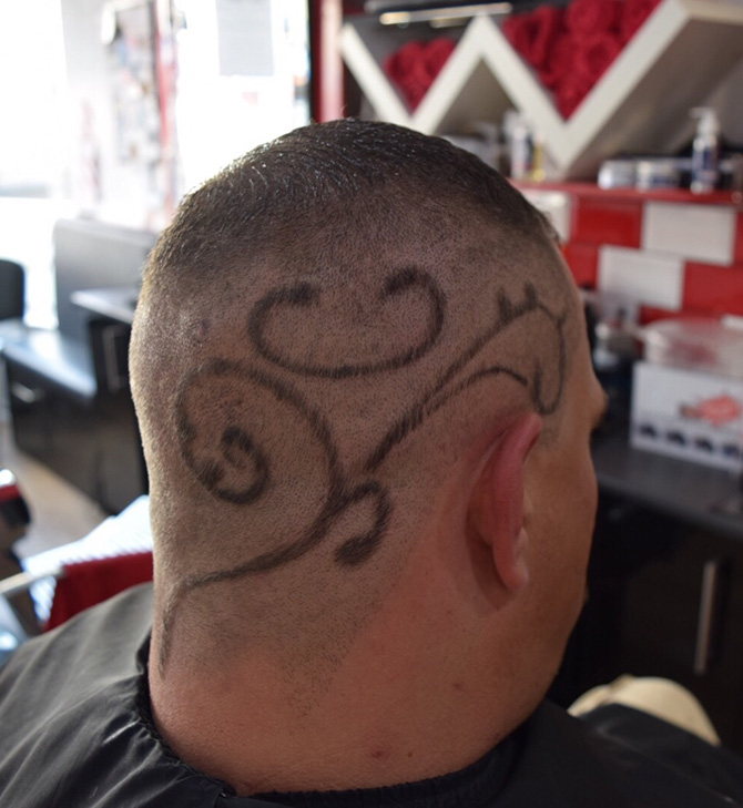 Example Hairart : The Filton Barbers, North Bristol