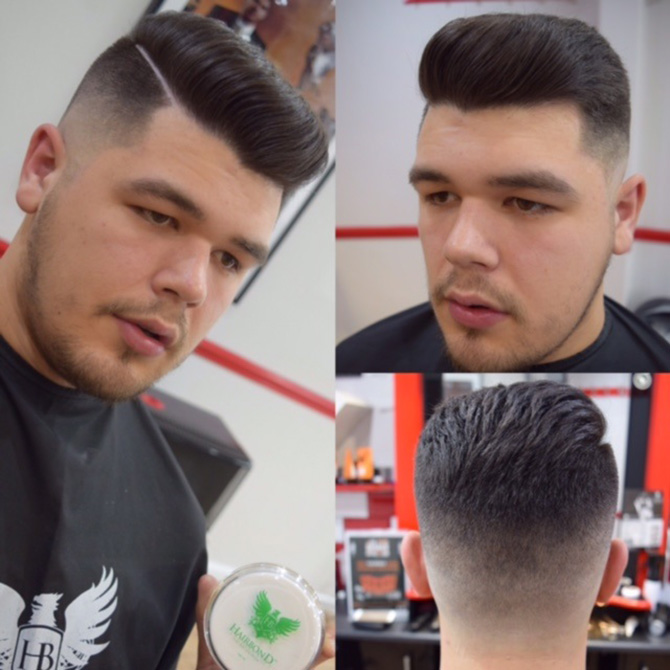 Medium skin fade side parting hairstyles North Bristol barbers