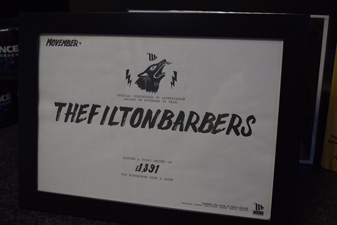 Movember Fundraising at The Filton Barbers, North Bristol